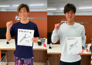 松本山雅 F.C. 大野選手と山田選手が来店!